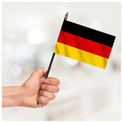 Germany Hand Waving Flag Table Desk Display Country Small Handheld Flag+hardware