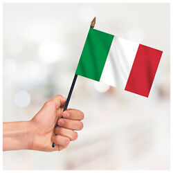 Italy Country Hand Waving Flag Patriotic Small Handheld Flag Table Desk Display