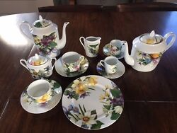Limoges France Narcissus Tea And Coffee Set Of 12 And More...