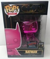 Funko Pop1 44 Batman Nycc Con Limited 1500 Pink Chrome 2019 Official Sticker