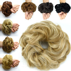 Real Thick Curly Messy Bun Hair Piece Scrunchie 100 Natural Hair Extensions 55u