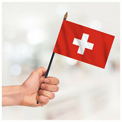 Switzerland Hand Waving Flag Table Desk Display Country Small Handheld Flag
