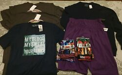 Lot of New Mixed Men's Clothing Shirts Sweater Boxer Briefs  Sizes M-XL