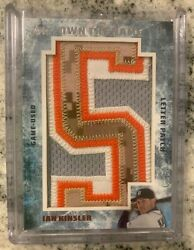 Topps Own The Name Ian Kinsler Game Used Letter Patch Tigers 2015 1/1