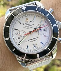 Breitling Superocean Heritage 44 Chronograph SERVICED Mesh Box Manual A2337024