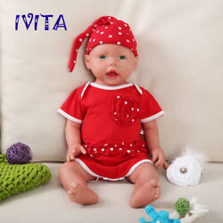 Ivita 20and039and039 Full Silicone Reborn Doll Baby Girl Take Pacifier 4000g Birthday Gift