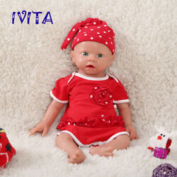 Ivita 19and039and039 Full Body Silicone Reborn Doll Cute Baby Girl Toy Birthday Gift 3700g