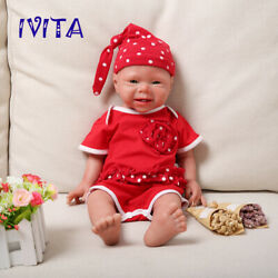 Ivita 19and039and039 Full Silicone Reborn Doll Newborn Baby Girl Toy Birthday Gift 3400g
