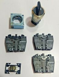 Siemens 3sb35002ha11 Selector Switch 1 Pc With 3sb3400-0a 3pc For Quincy Qsi-500