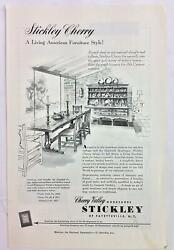 Vintage Original Print Ad 1950and039s Stickley Cherry Furniture 6.75 X 10 Pa-1176