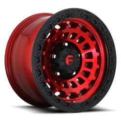 Fuel Zephyr D632 20x9 8x180 Offset 1 Candy Red With Matte Black Quantity Of 4