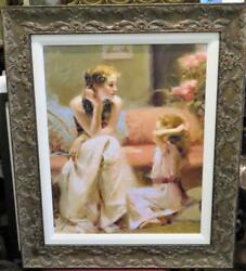 Clearancerare Magnificent Beautiful Colorful Mother And Child Pino Comes W/coa