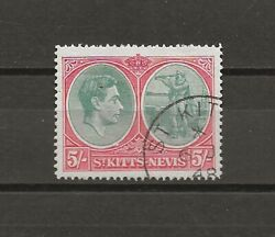 St Kitts Nevis 1938-50 Sg 77ad Used Cat £500 .