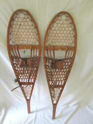 Vintage Northland 12 By 48 Inch Wooden Wooden Snowshoes