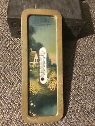 Cocolamus Pa J.d. Lesser Flour Feed Grain 1940s Advertising Thermometer