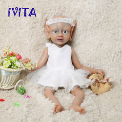 Ivita 18and039and039 Silicone Reborn Doll Newborn Fairy Baby Girl 2000g Birthday Gift Toy