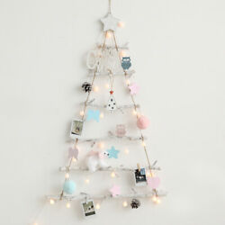 Christmas Natural Wall Trees Pastel Ornament Lights Holiday Decor Decoration Set