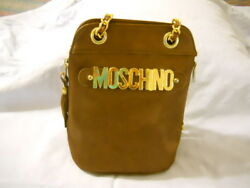 Authentic Satin Brown MOSCHINO Bag $399.96