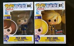 Nycc 2019 Funko Pop Pez Girl Lot - Official Nycc Sticker 2 Pop Lot 80+81