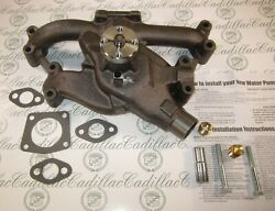 1958-1962 Cadillac Water Pump   365 390 V8   New With Hardware   Free Shipping