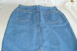 JUNIORS - ENCHANTE DENIM JEAN SKIRT - Size 11 VERY  GOOD CONDITION ! MADE IN USA
