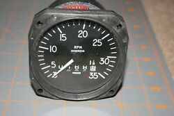 Mitchell Mechanical Recording Tachometer P/n D1-112-5025 Mod.98480-25 Low Hours