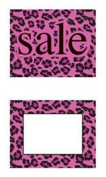 100 5 ½ X 7 Pink Black Leopard Sale Sign Cards Retail Sales Signs Advertising