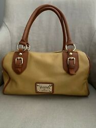 Valentina Leather Satchel With Crossbody Strap Ochre Yellow Pre Owned