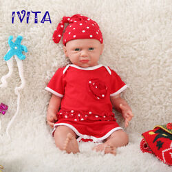 Ivita 20and039and039 Soft Silicone Reborn Doll Newborn Baby Girl Toy Birthday Gift 3800g