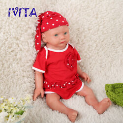 Ivita 19and039and039 Silicone Reborn Doll Cute Newborn Baby Girl Toy Birthday Gift 3900g