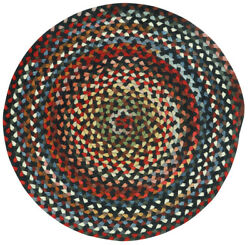 Capel Rugs St. Johnsbury Wool Double Braid Country Black Round Braided Rug