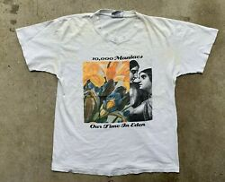 10000 Maniacs Shirt 1992 Vintage 90s Our Time In Eden Concert Tshirt Adult L