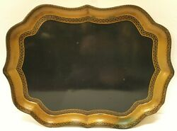 Early 19th C Regency Style English Lacquered Papier Mache Tray By Henry Clay