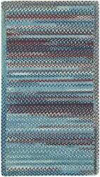 Capel Rugs Kill Devil Hill Wool Country Braided Rectangle Rug Old Glory Blue 425