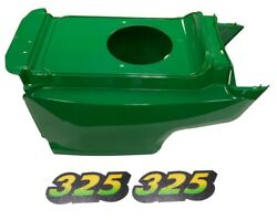 Lower Hood And 2pc Decals Replaces Am132688 M135982 Fits John Deere 325 Up S/n