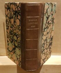 Boston Directory And Annual Advertiser 1826 1st Ed Ads African Americans, Streets