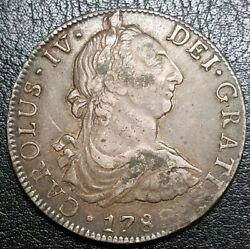 1789 Mo Fm Silver 8 Reale Mexico Colonial Milled Bust Large U.s Silver 1 Dollar