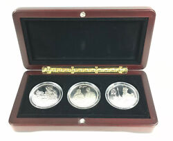 Set Of 3 80 Years Coins Crown Isle Of Man Andpound2 Sandwich Islands 10 Liberia