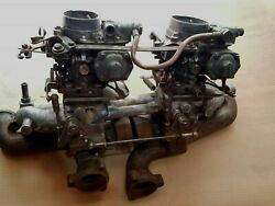 Mercedes W180 220s M180.924 Dual Carburator Intake / Exhaust Manifold Assembly