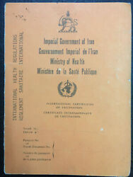 Collection Of 18 Pahlavi Medical And Ministry Of Health Documents