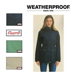 New Weatherproof Womenand039s Rain Jacket W/ Removable Hood Variety Sz/color - A15