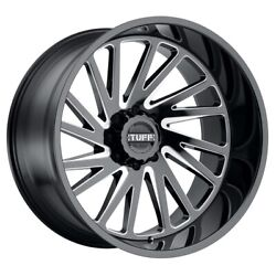 Tuff T2a 26x14 8x165.1 Offset -72 Gloss Black With Milled Spoke Quantity Of 4