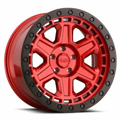 Black Rhino Reno 20x9.5 6x139.7 Et12 Candy Red W/ Blk Ring And Blk Bolts Qty Of 4