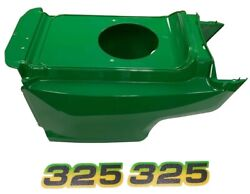 Lower Hood And Set Of 2 Decals Replacesam132688 M116522 Fits John Deere325 Low S/n