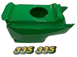 New Lower Hood And Set Of 2 Decals Replaces Am132688 M134882 Fits John Deere 335