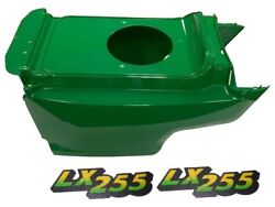 New Lower Hood And Set Of 2 Decals Replaces Am132688 M126050 Fits John Deere Lx255