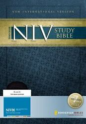 Niv Study Bible By Zondervan Staff 2008, Leather, New Edition