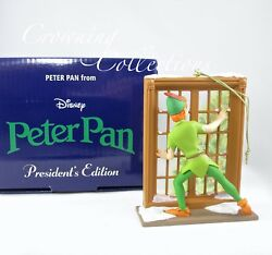 Disney Grolier Peter Pan Presidentand039s Edition Ornament Early Moments At Window