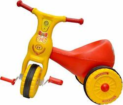 Ducky Baby Plastic Rotatory Tricycle Ride On Bicycle Red Sounds Play Set Unisex