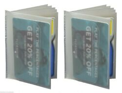 New 2 Clear Plastic Wallet Inserts Billfolds Bifold and Trifold $6.48